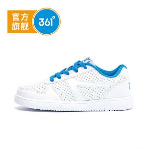 361° 361度童鞋男童鞋中大女童小白鞋儿童滑板鞋儿童运动鞋K79130021
