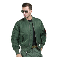 20180415124121310MA1飞行员夹克 美空军外套 户外休闲夹克 两穿防风男士保暖上衣 X