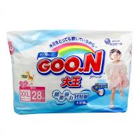 大王(GOO.N)女宝宝用短裤式纸尿裤婴儿尿不湿拉拉裤XXL28片