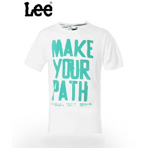 Lee 【断码】男士短袖T恤 休闲圆领时尚图案设计 潮流 8826-5Y1D