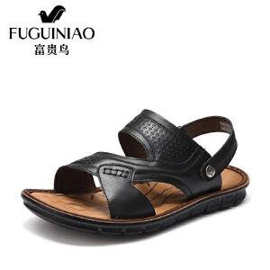 富贵鸟(FUGUINIAO)男凉鞋夏季舒适流行沙滩鞋男鞋