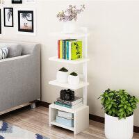 客厅摆设小柜房间布置摆设置物架卧室小柜子多层置物架客厅沙发旁简约架子 8层 - 奶白色+白架 高160CM