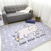 韩系四季款多功能儿童爬爬垫游戏垫家用加厚棉质地垫可手洗可机洗 140CMx200CM(棉质地垫)