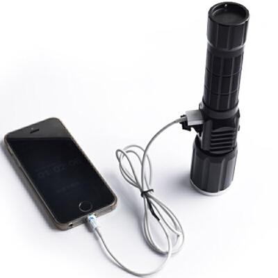 强光手电筒充电t6变焦远射led户外骑行手电筒带USB侧灯警示灯 10W1锂电池1充电器 发货周期:一般在付款后2-90天左右发货,具体发货时间请以与客服协商的时间为准