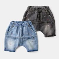 宝宝牛仔短裤儿童夏款休闲裤薄款中裤男童裤子夏装童装潮