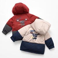 儿童羽绒服 男童女童保暖连帽棉袄中大童 冬款