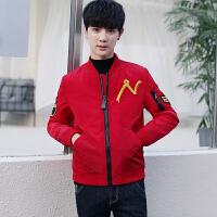 冬季男士刺绣潮流棉衣冬装棉袄韩版修身帅气男装青年机车外套