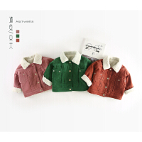 75 冬季新款婴幼儿男女童灯芯绒羊羔毛外套