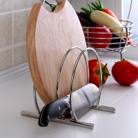 欧润哲 时尚简约不锈钢砧板架刀架组合套装 多功能置物架切菜板架放刀架锅盖架
