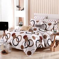 棉四件套棉床品套件1.5/1.8m床上用品4件套学生被套床单1.2米 米白色 尚玄月