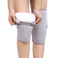 羊毛保暖护膝皮毛一体加厚电动车骑行防寒护具男女士老人护膝盖护腿