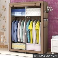 简易衣柜简约现代经济型宿舍衣橱布艺小号单人组装折叠布衣柜T