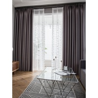 定制窗帘成品简约现代隔音遮光布色纱帘客厅卧室落地窗飘窗蓝色J