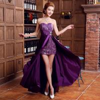 新娘敬酒服结婚晚礼服新款新娘礼服红色敬酒礼服长款婚纱礼服