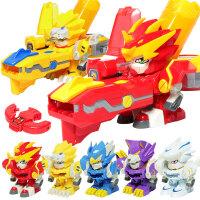 激战奇轮3玩具爆炫神枪套装蓝龙神兽奇轮战士2机战骑轮烈焰狮王