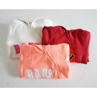 婴幼儿外出爬服 双层棉质侧开连体哈衣 底裆开扣好换尿布 加宽版