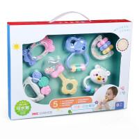 婴幼儿玩具 幼儿牙胶摇铃玩具磨牙棒宝宝儿童礼盒装生日礼物 摇铃6件套 (精美礼盒装)