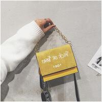女包感包包2019新款洋气时尚百搭ins链条宽带斜挎手提包