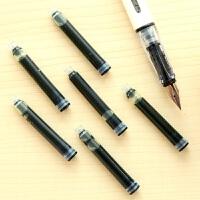 英雄可换囊学生钢笔通用一次性墨水359墨囊黑色墨蓝色6支装