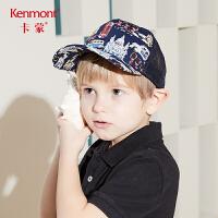 卡蒙6-9岁儿童防晒帽宝宝印花鸭舌帽沙滩太阳帽男宝宝透气棒球帽4782