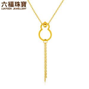 六福珠宝中国风葫芦流苏足金套链黄金套链女款G08TBGN0005
