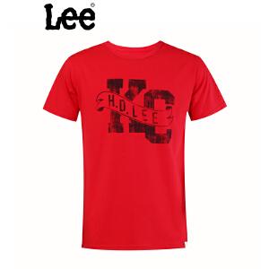 Lee 【断码】专柜男士短袖T恤夏季潮男装纯棉短袖T恤L10102126111