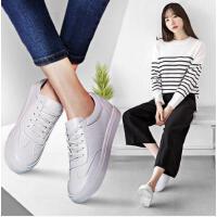 春季新款古奇天伦休闲板鞋平底单鞋小白鞋女系带学生百搭韩版BE8570