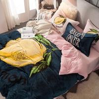 网绒双面绒法兰绒四件套床单被套冬季保暖法莱绒水晶绒床上