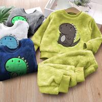 儿童家居服冬装宝宝居家保暖套装