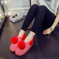 冬季情�H防水PU皮棉拖鞋包跟保暖防滑厚底家居家室外男女毛拖鞋