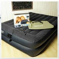 intex充气床双人加大 加厚豪华植绒气垫床内置电泵双层气床垫