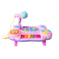 儿童玩具 多功能电子琴玩具初学音乐启蒙女孩宝宝儿童早教益智礼盒装生日礼物 粉色