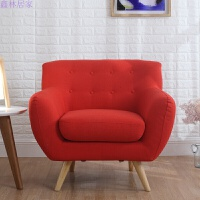 布艺单双三人沙发日式小户型组合沙发现代简约创意拉扣经典