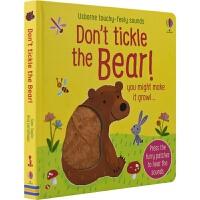 【首页抢券300-100】Usborne Don't Tickle The Bear 别给熊熊挠痒痒 幼儿触摸发声书 英