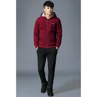 秋冬季男士卫衣运动套装休闲加绒加厚运动服两件套2017新款男装