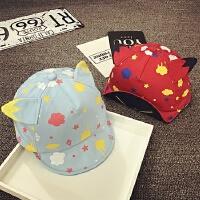 宝宝帽子1-2-3岁夏天遮阳帽男女童鸭舌帽棒球帽婴儿帽6-12-24个月