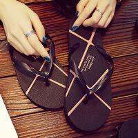 夏天男人字拖鞋橡胶软底男士夹板拖鞋个性沙滩拖潮男学生拖鞋