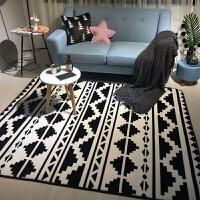 北欧潮牌地毯卧室加厚客厅地垫茶几飘窗爬行垫四季家用垫子可定制 绿色 清新绿叶(M)