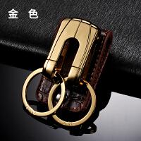 结婚礼物穿皮带双扣钥匙扣男士腰挂不锈钢汽车钥匙链圈环挂件创意礼品 如图