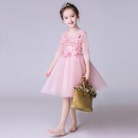 女童公主裙蓬蓬女孩模特走秀钢琴演出服小花童婚纱儿童生日晚礼服
