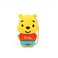 七夕礼物 创意维尼熊可爱U盘16G Pooh Bear小熊维尼车载电脑通用2.0