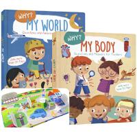 英文原版图书 Why My World and My Body 好奇宝宝爱提问2册 我的世界真多彩 我的身体真奇妙 3