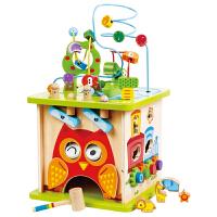 Hape森林动物游戏盒绕珠百宝箱串珠宝宝大号男女孩儿童益智玩具E8341