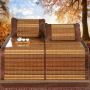 伊迪梦家纺 竹席系列三件套 夏日清凉烘干炭化 适用1.5-1.8m床AN808