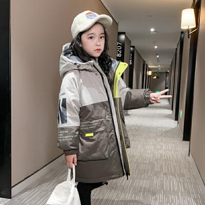 女童棉衣儿童外套冬装中长棉袄大童羽绒