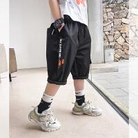 【2件2折】左西男童短裤夏装2021新款儿童中大童轻薄五分裤休闲夏季裤子