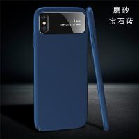 适用于iphonex手机壳苹果X白色8X耐摔套磨砂超薄抖音新款10潮牌男女玻璃 【宝石蓝】磨砂款