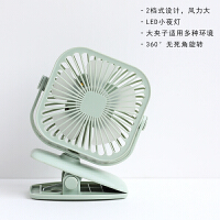 小风扇USB夹式迷你大风力桌上电扇办公室桌面小型夹子床上插电床头超静音可充电usp便携式微型夹婴儿车