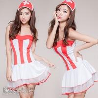 !裤情趣丝袜大码女性感制服诱惑角色扮演护士服套装 +白网袜