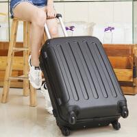 行李箱女拉杆箱旅行箱包密码皮箱子学生万向轮20寸寸韩版小清新 尊贵黑 包角加固静音轮